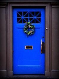Cobalt blue front door. | COLOR  BLUE | Pinterest