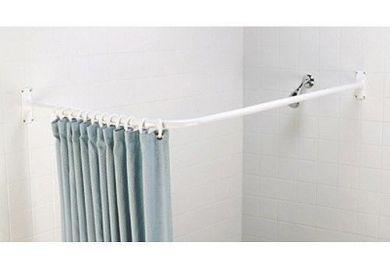 L Shaped Window Curtain Rod