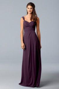 WTOO plum bridesmaid dress | Wedding Party | Pinterest