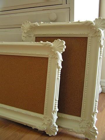 Frame a bulletin board to fancy it up(: