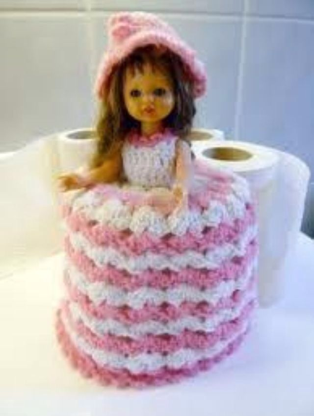 Knitted Toilet Paper Roll Cover