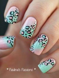 Cute girly cheetah nail design | Makeup & Nails | Pinterest