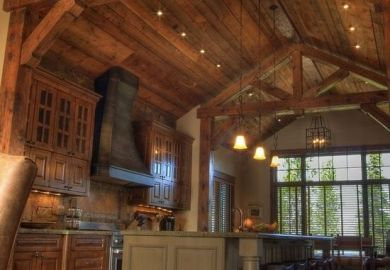 Kitchen Ideas For Log Home And Cabin Pinterest