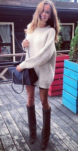 Oversized jumper, Givenchy & Chanel!  Now if my legs were only that skinny!