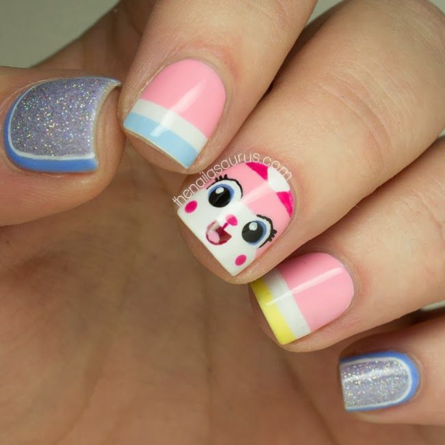 Unikitty Lego Nail Art!