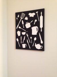 DIY canvas wall art, kitchen   crafty   Pinterest