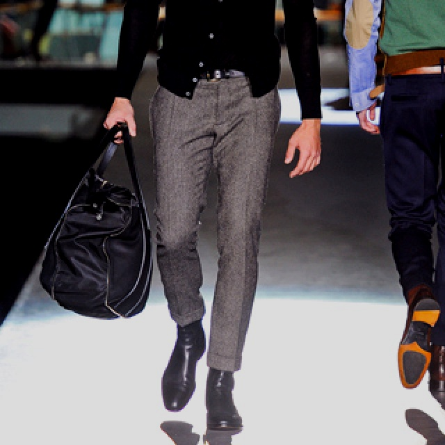Men's bags and Tweed pants for Fall 12