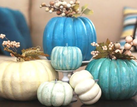 Want to decorate for fall - but use less traditional fall colors?  This just might be for you!