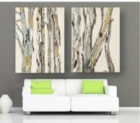 Oversized VERY LARGE Wall Art Canvas Print soft pastels ...