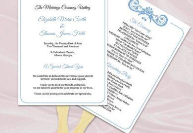 Diy Wedding Programs