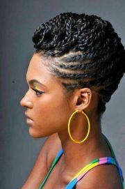 flat twist hairstyles updo