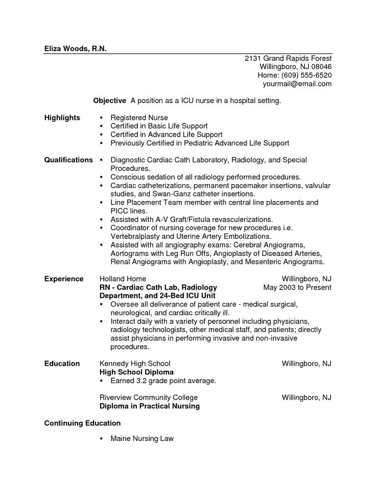 New Graduate Nurse Resume Sample | Template