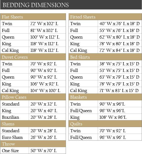 King Size Duvet Measurements