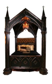 Gothic style bed | Mansion on the hill | Pinterest