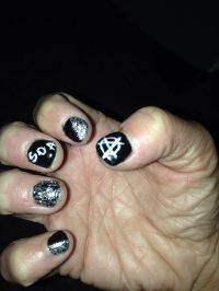 Sons of anarchy nails | Nails | Pinterest