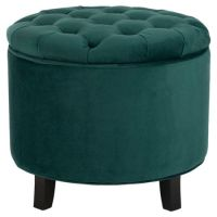 Teal Ottoman | Options for Shared Spaces | Pinterest