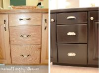 diy ~ bathroom cabinet makeover ~ updating builders grade ...