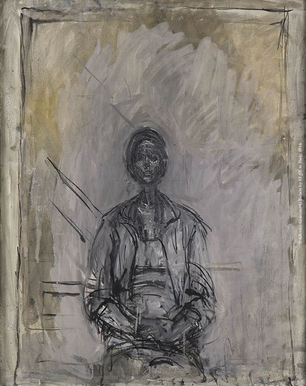 Alberto Giacometti, Annette sitting atelier, ca. 1960. Oil on canvas, 92 x 73 cm. Collection Fondation Giacometti, Paris © Alberto Giacometti Estate by SIAE in Italy, 2014