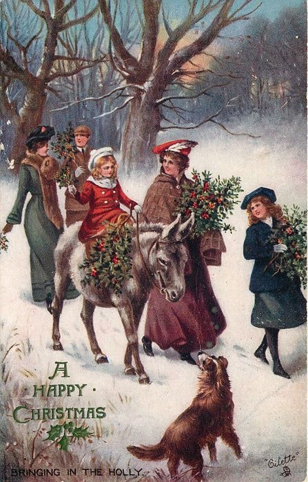 """Bringing in the holly"" ~ 1906"