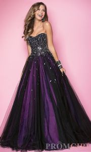 sparkly purple prom dress styles