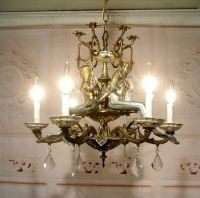Antique Style Mermaid Nautical Chandelier Ceiling Light ...