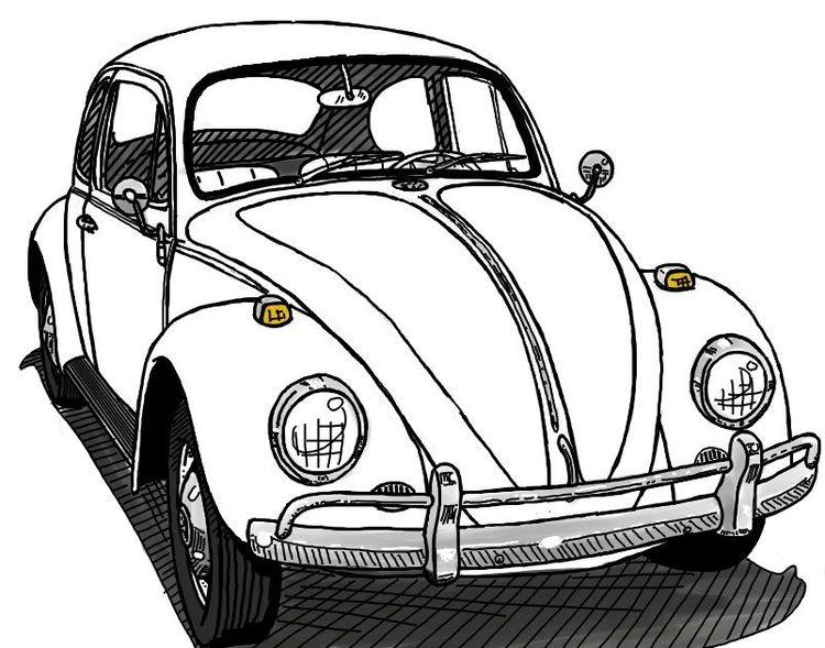 Dibujos de coches, Volkswagen beetle and Volkswagen on