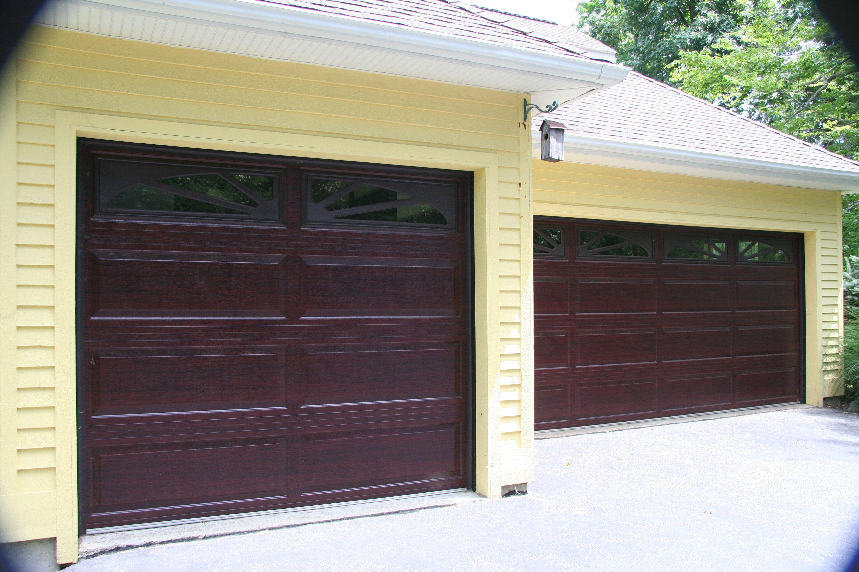 Raynor Accufinish Showcase Cherry  Raynor Garage Doors