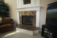 Granite fireplace surround and hearth | Decorating ideas ...