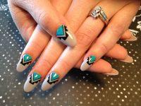 Native American nail art | Hair and nails | Pinterest