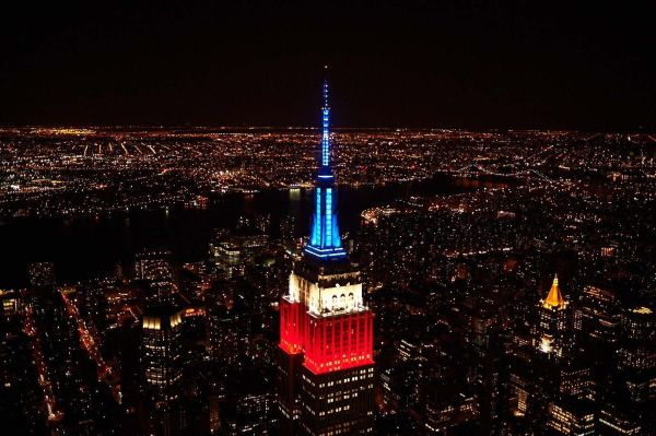 Empire State Building Red Lights