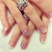 blinged nails