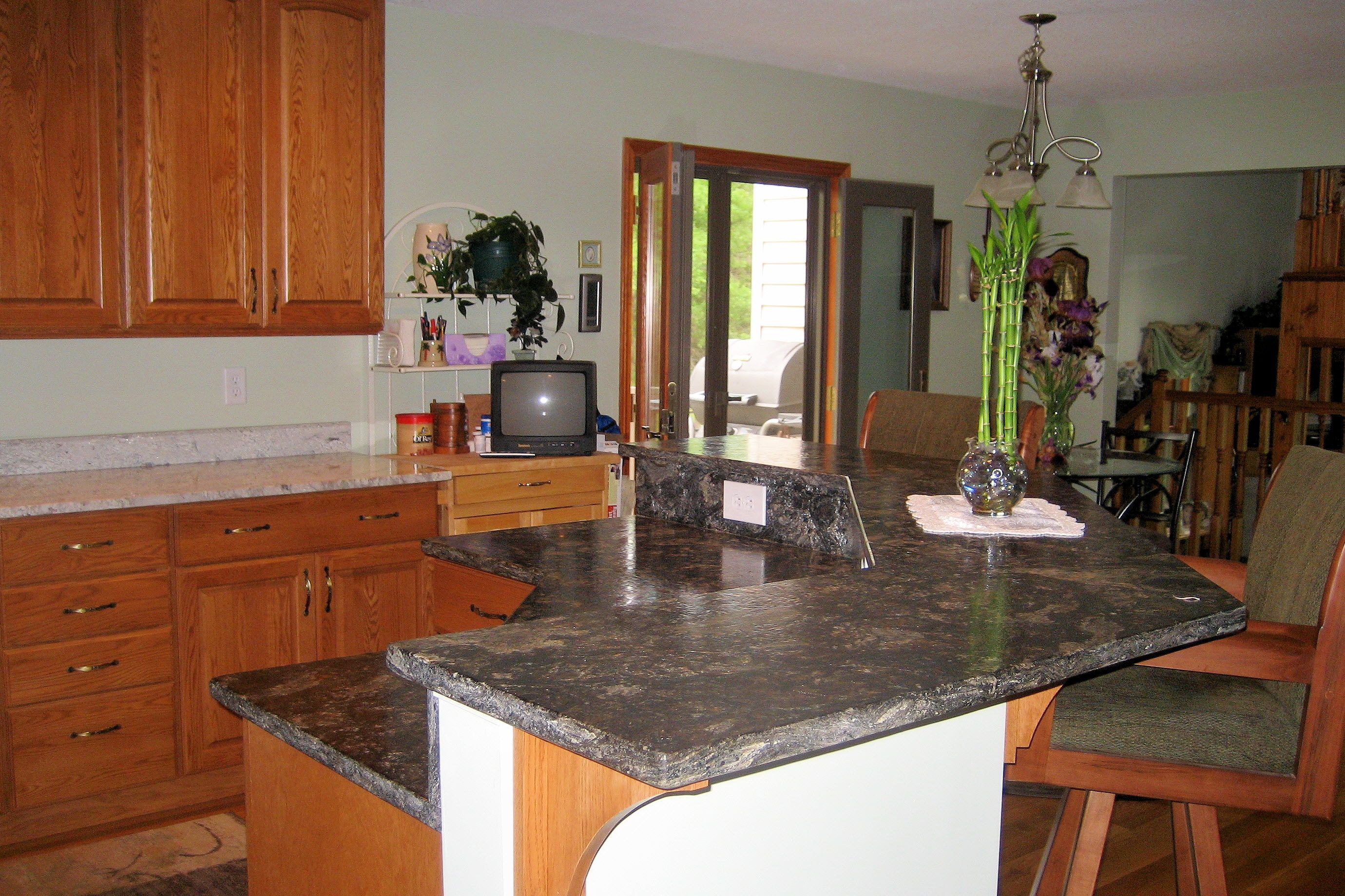 two tier kitchen island stone ideas pinterest