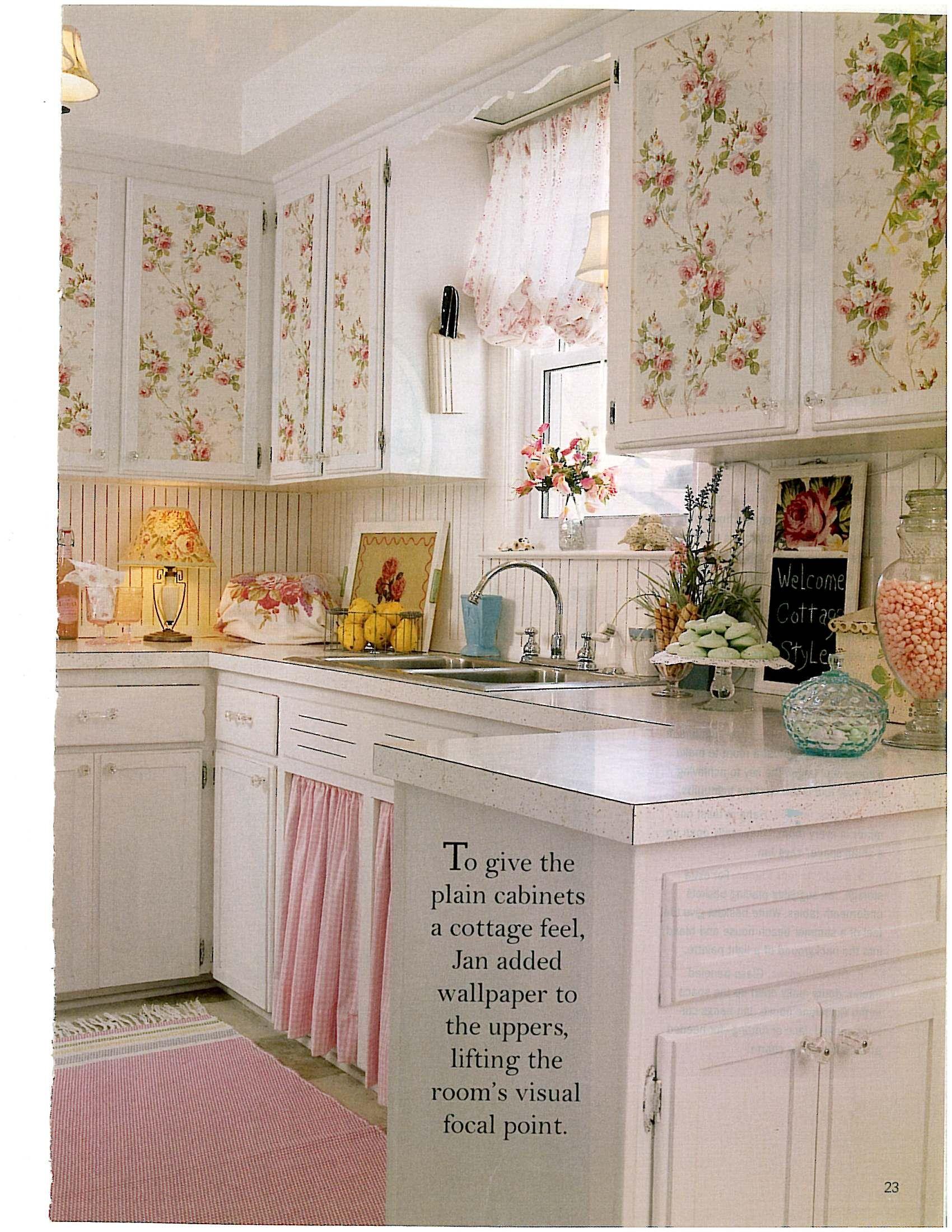 shabby chic kitchen decor refacing cabinets diy sweet pinterest