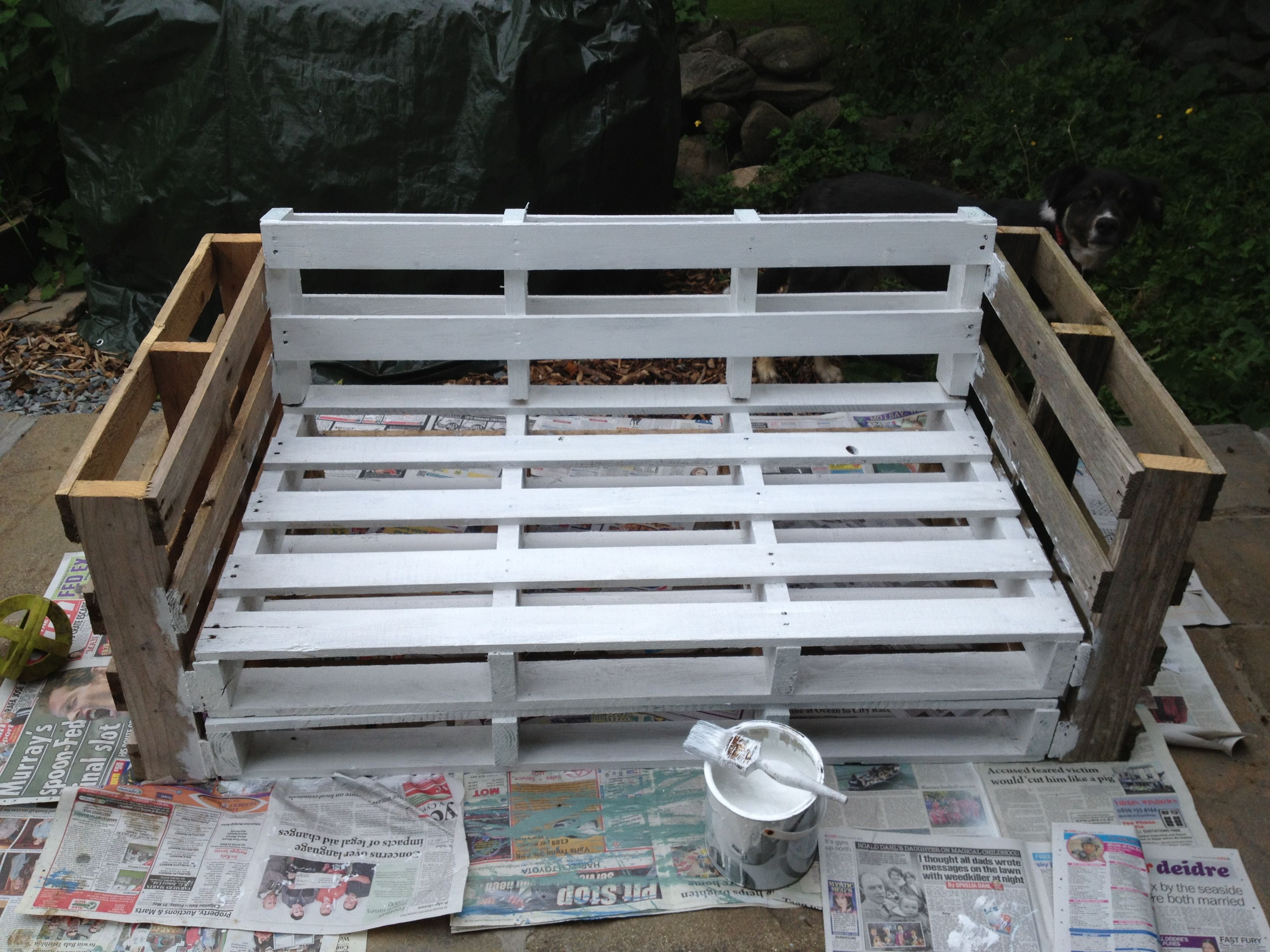 diy sofa from pallets leather fabric sofas chesterfield pallet home pinterest