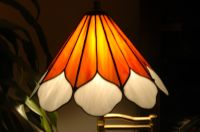 Sunflower Cone stained glass lamp shade