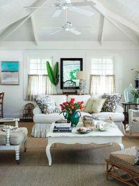 Beach cottage living room   Beach house   Pinterest