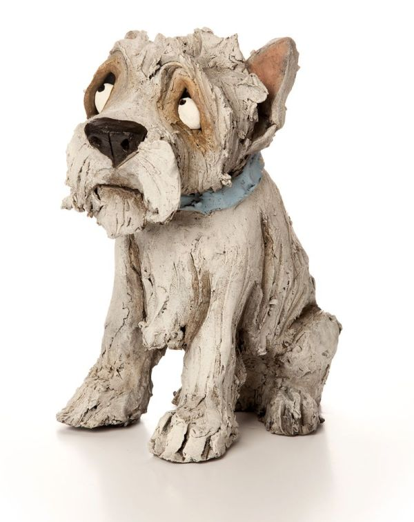 Pottery Clay Dog Sculpture