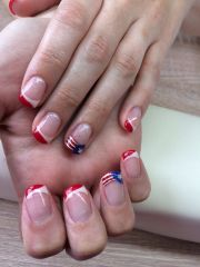 4th of july gel nail design