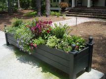 Large Planter Box. Deck Decor Ideas