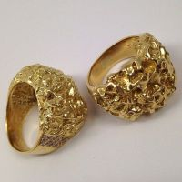 Gold nugget rings | Lap of Lux | Pinterest