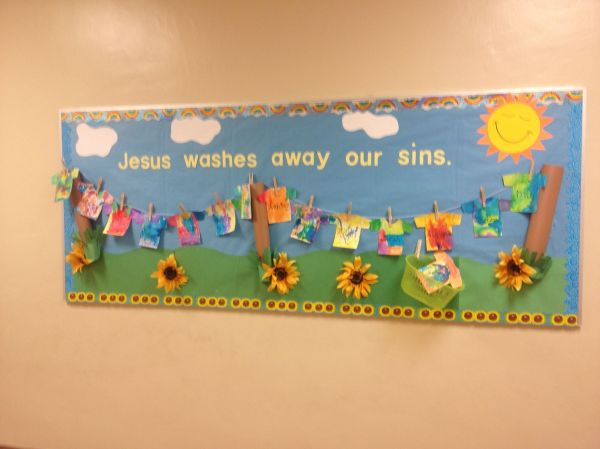 Religious Bulletin Board Room Decoration