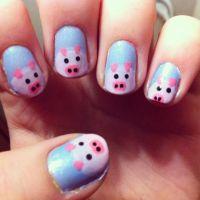 Pig Nails | Make-up/Nail art | Pinterest