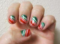 Peppermint candy stripes | My Nail Art Designs | Pinterest