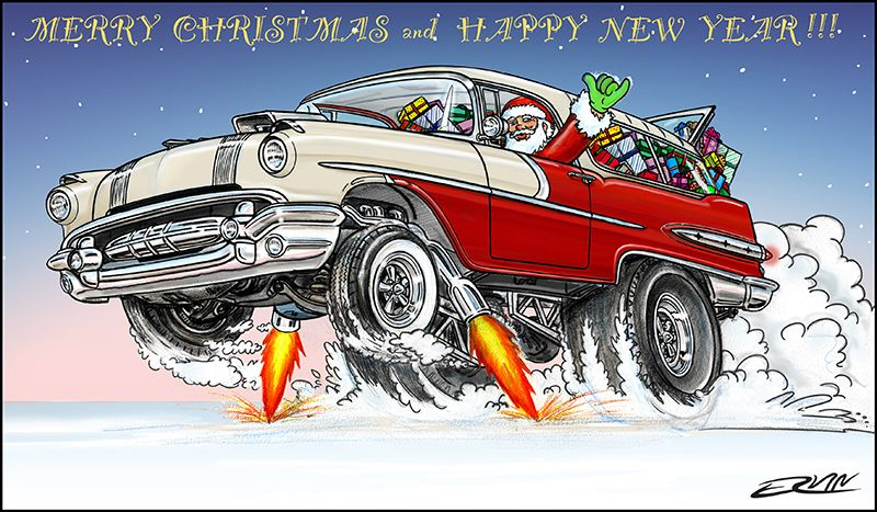 Pontiac Safari Christmas Card Art Pinterest