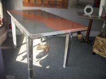Custom Concrete Desk With Metal Base Home