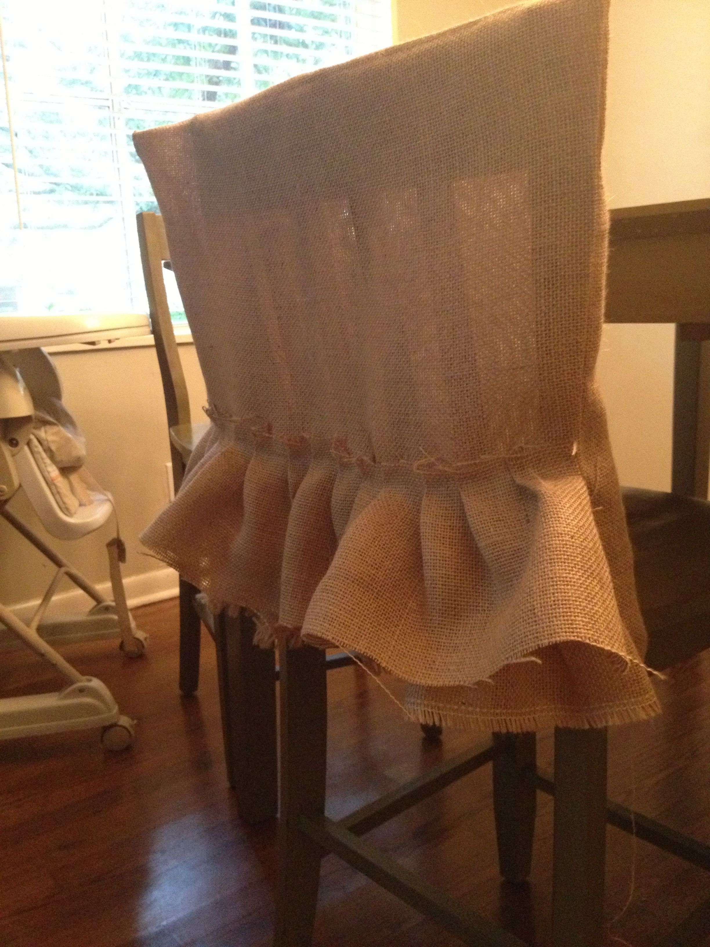 burlap chair covers for folding chairs benefits of yoga seniors ruffled back dream wedding pinterest