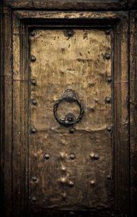 An ancient door in Rome, Italy. | Portals & Passagways ...
