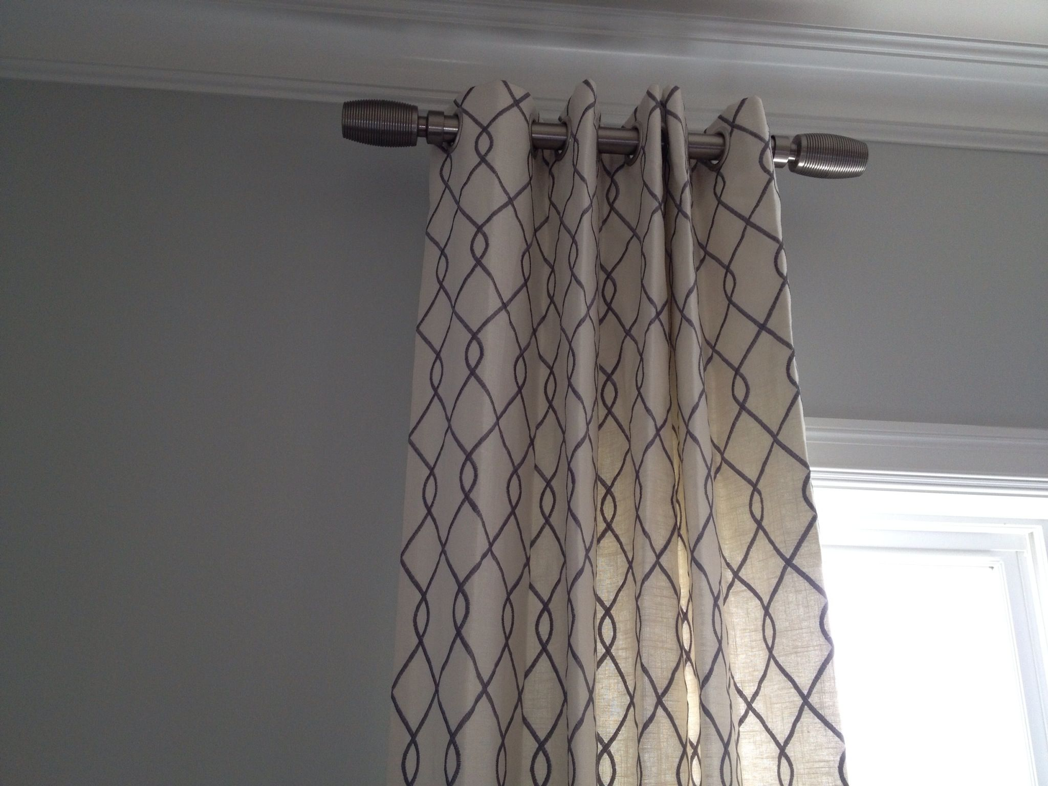 Draperies and short curtain rods  Home  Pinterest