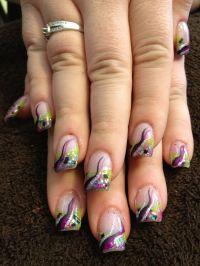 Acrylic color design nails wild! | Nails | Pinterest