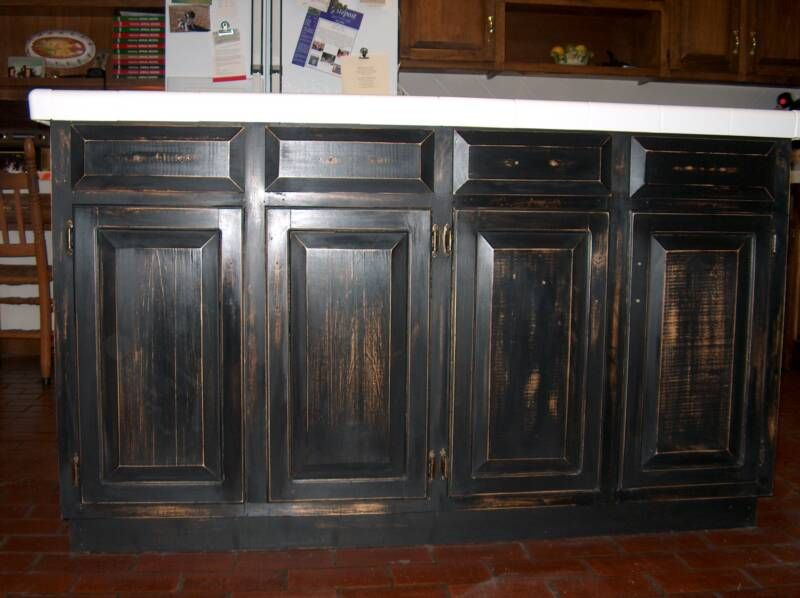 distressed kitchen island  Home  DIY Cabinets  Counter